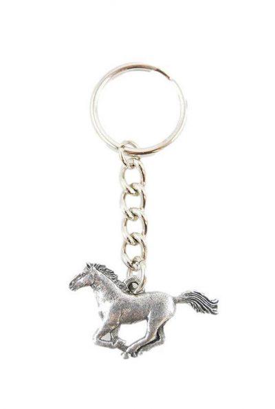 Horse Keychain Pewter