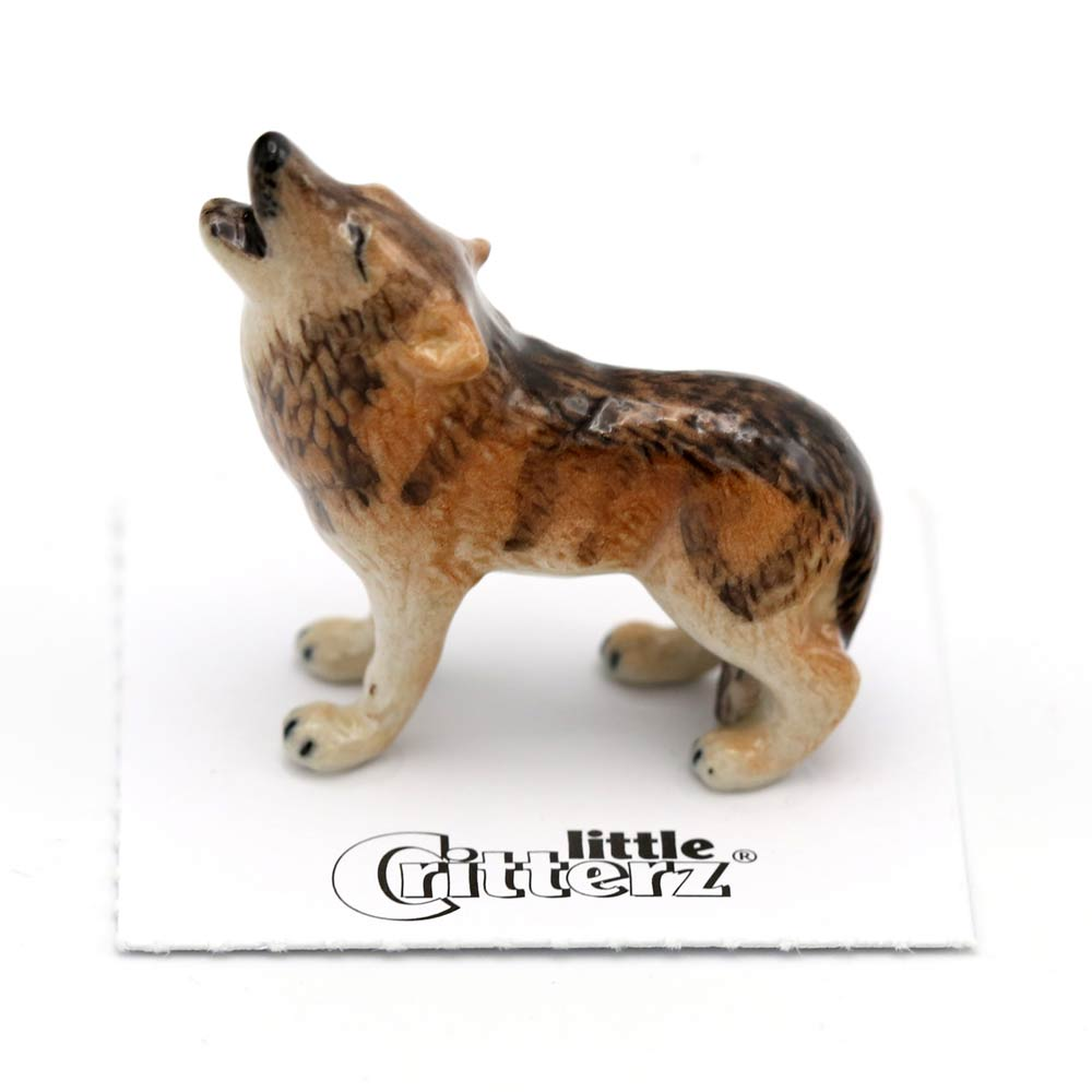 Howling Wolf Porcelain Figurine