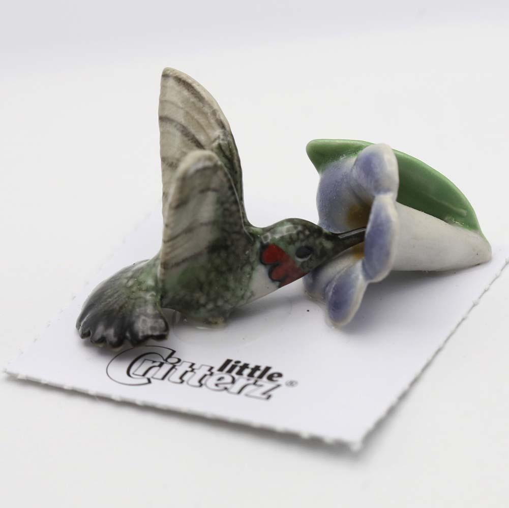 Hummingbird Porcelain Figurine