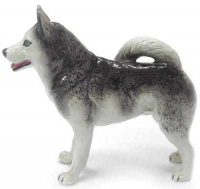 Husky Hand Painted Porcelain Figurine 1