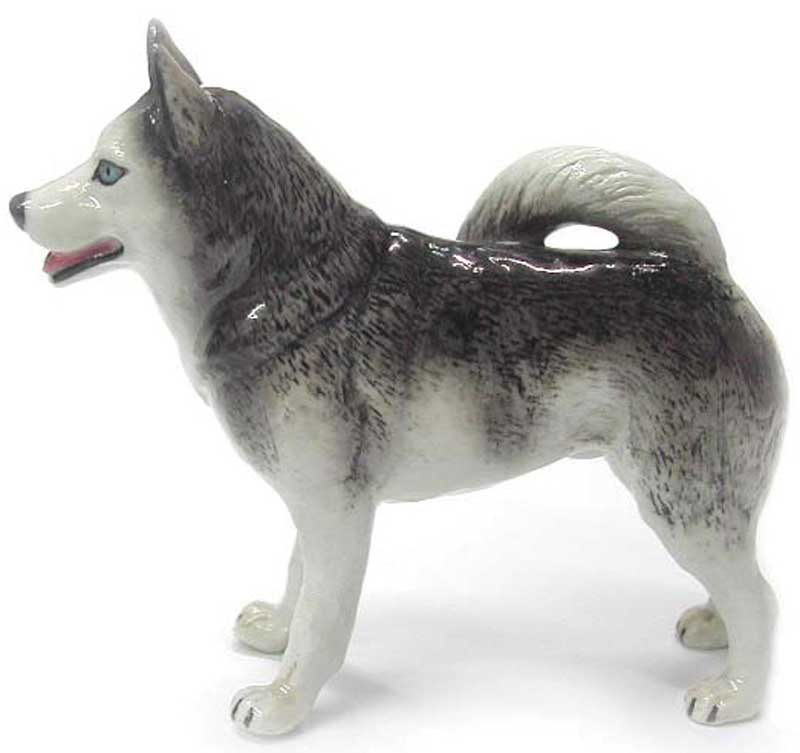 Husky Hand Painted Porcelain Figurine
