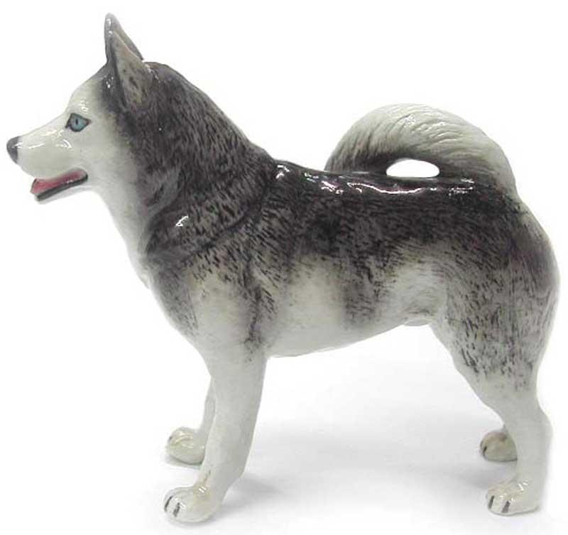 Husky Hand Painted Porcelain Figurine