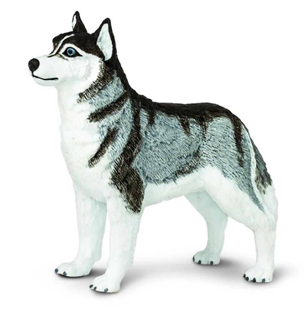 husky-figurine-blk-wht-blue-eye-safari