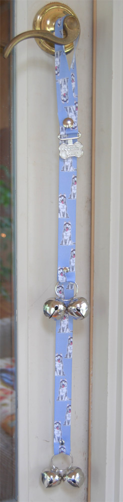 Husky Puppy Dog Potty Training Doorbells Poochie Bells 1