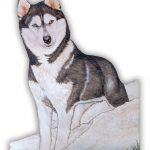 husky-wood-magnet