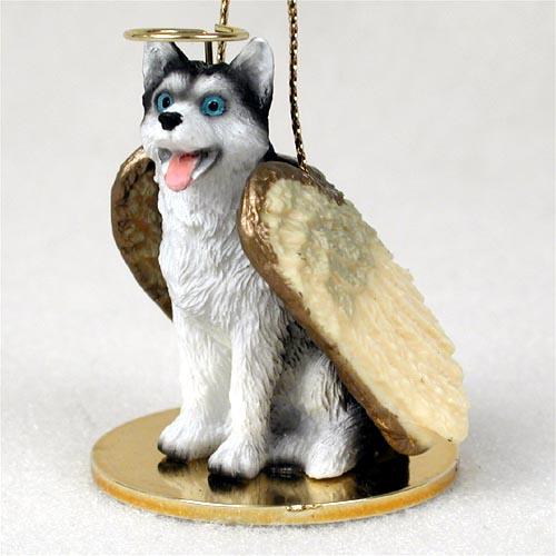 Husky Dog Christmas Holiday Ornament Figurine