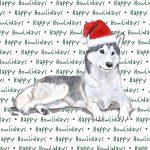 Husky Dog Coasters Christmas Themed 1