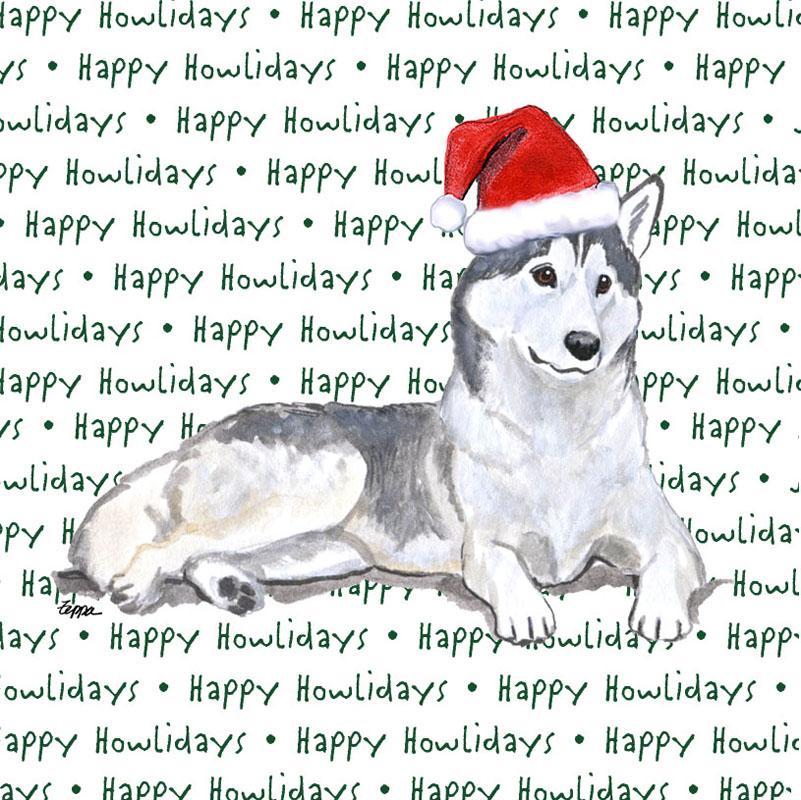 Husky Dog Coasters Christmas Themed