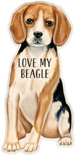 Beagle Shaped Magnet By Kathy