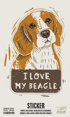 Beagle Dog Shaped Sticker
