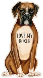 Boxer Shaped Magnet By Kathy Uncropped Ears