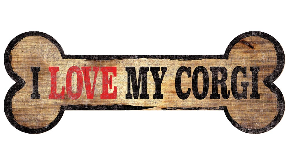 Corgi Sign - I Love My Bone 3x10