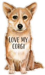 Corgi Shaped Magnet By Kathy Pembroke