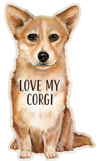 Corgi Shaped Magnet By Kathy Pembroke
