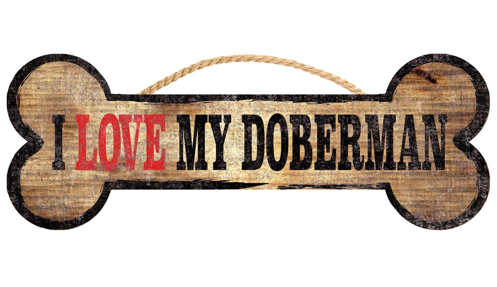 Doberman Pinscher Bone Sign