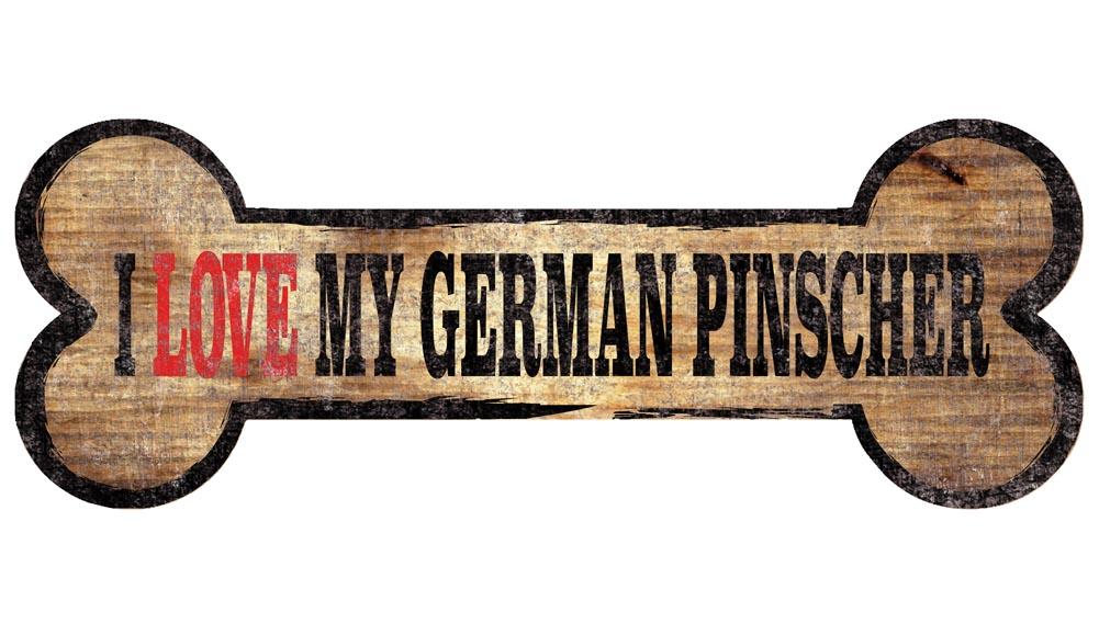German Pinscher Sign - I Love My Bone 3x10