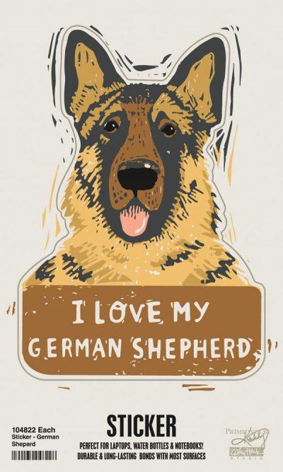 German Shepherd Shaped Sticker By Kathy