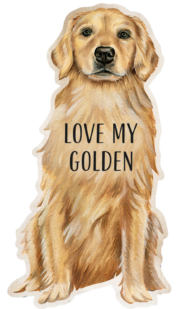 Golden Retriever Shaped Magnet By Kathy