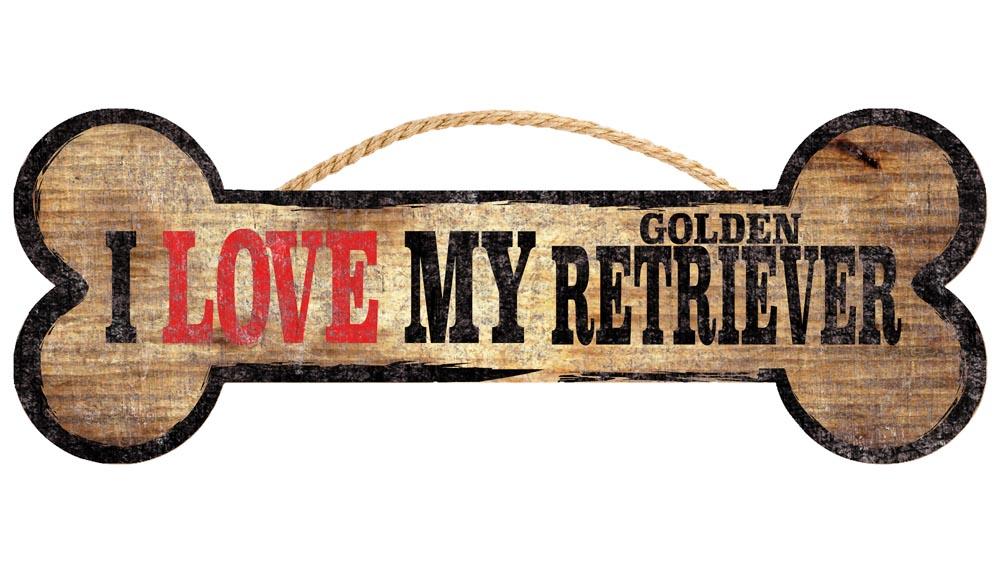 Golden Retriever Sign - I Love My Bone 3x10