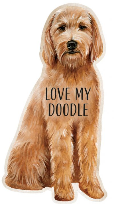 Goldendoodle Shaped Magnet By Kathy Brown