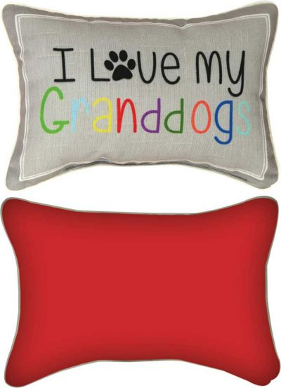 """I Love My Grand Dogs Artistic Throw Pillow 18X18"""""""