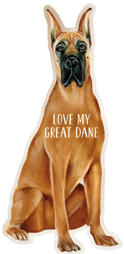 Great Dane Shaped Magnet By Kathy Brown