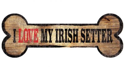 Irish Setter Sign - I Love My Bone 3x10