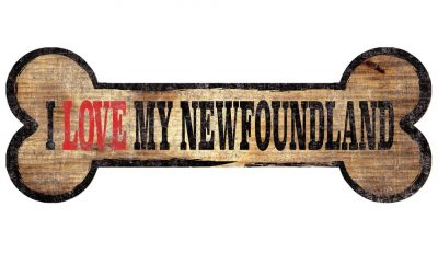 Newfoundland Sign - I Love My Bone 3x10