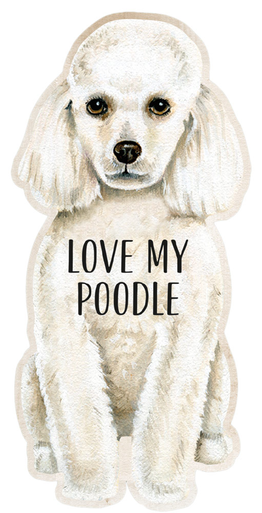 Poodle Shaped Magnet By Kathy White