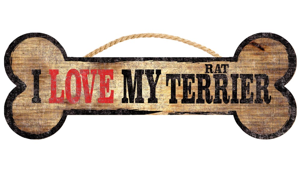 Rat Terrier Bone Sign