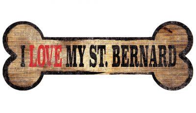 Saint Bernard Sign - I Love My Bone 3x10