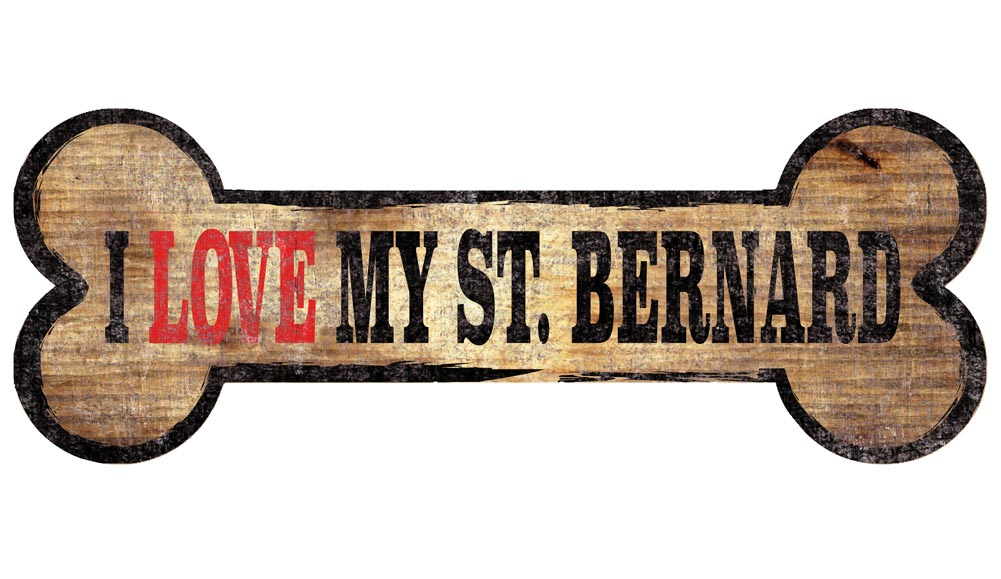 Saint Bernard Sign - I Love My Bone 3x10