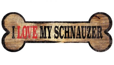 Schnauzer Sign – I Love My Bone 3×10 1