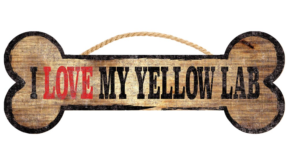 Yellow Lab Bone Sign
