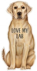 Yellow Lab Shaped Magnet By Kathy