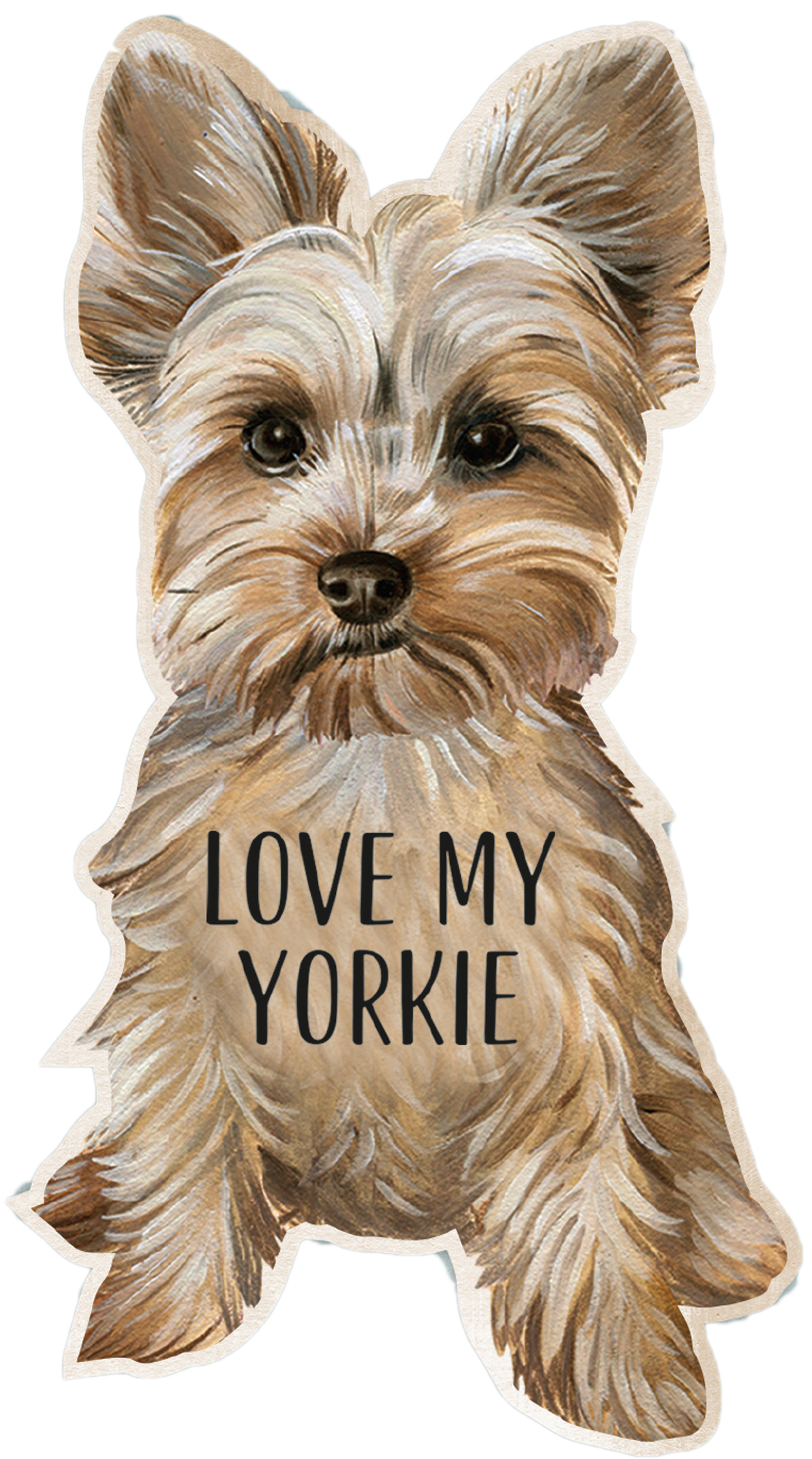 Yorkie Shaped Magnet By Kathy