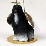 Afghan-Hound-Dog-Figurine-Angel-Statue-Black-White-180637633188