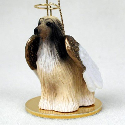 Afghan-Hound-Dog-Figurine-Angel-Statue-Hand-Painted-Tan-White-400201486577