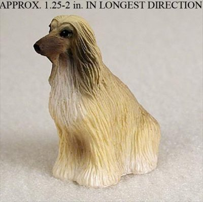 Afghan-Hound-Mini-Resin-Dog-Figurine-Statue-Hand-Painted-TanWhite-400205069938