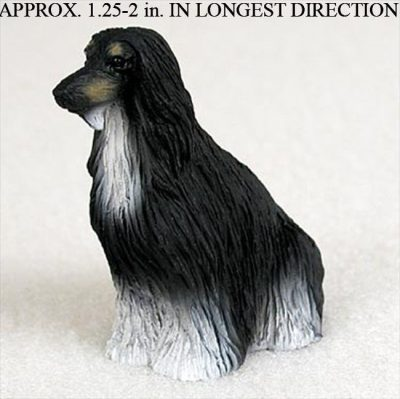 Mini Afghan Hound Figurine – Black