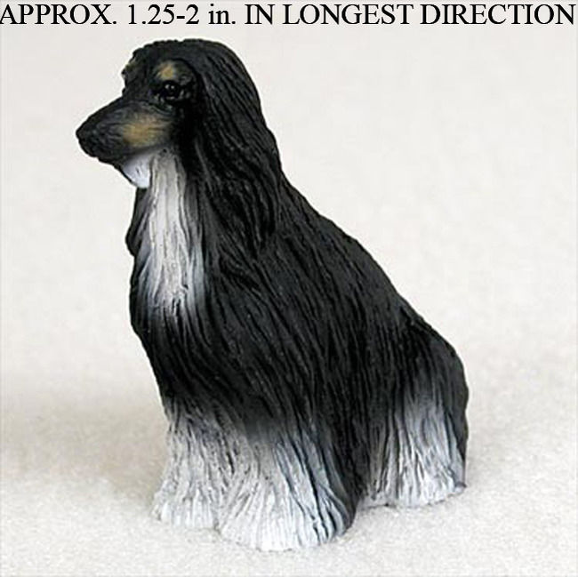Mini Afghan Hound Figurine - Black