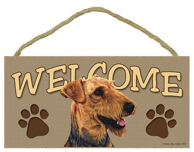 Airedale-Wood-Welcome-Dog-Sign-Wall-Plaque-Photo-Display-5-x-10-400196744000