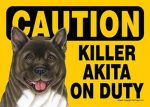 Akita-Caution-May-Lick-You-To-Death-Dog-Sign-Magnet-Velcro-5x7-400487959989