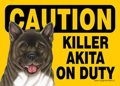 Akita-Caution-May-Lick-You-To-Death-Dog-Sign-Magnet-Velcro-5×7-400487959989