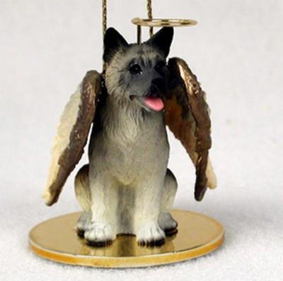 Akita Angel Figurine Ornament - Gray