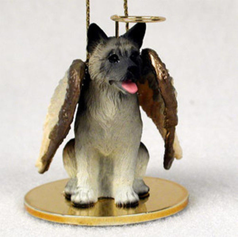 Akita Angel Figurine Ornament - Gray