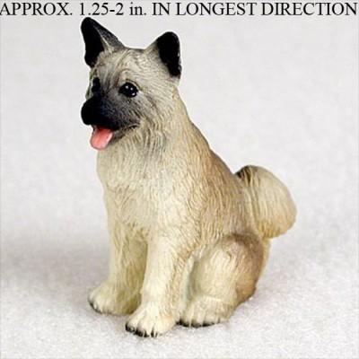 Akita-Mini-Resin-Hand-Painted-Dog-Figurine-Statue-Fawn-400249634833