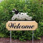 American-Cocker-Spaniel-Dog-Breed-Oak-Wood-Welcome-Outdoor-Yard-Sign-Black-Parti-400706779817