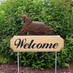 American-Cocker-Spaniel-Dog-Breed-Oak-Wood-Welcome-Outdoor-Yard-Sign-Brown-400706780057