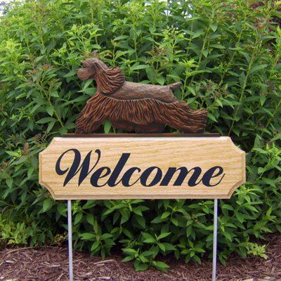 American-Cocker-Spaniel-Dog-Breed-Oak-Wood-Welcome-Outdoor-Yard-Sign-Brown-400706780057